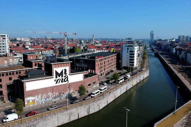 MIMA, a privately funded urban art museum, is housed in the old Belle-Vue brewery along the Brussels Canal.