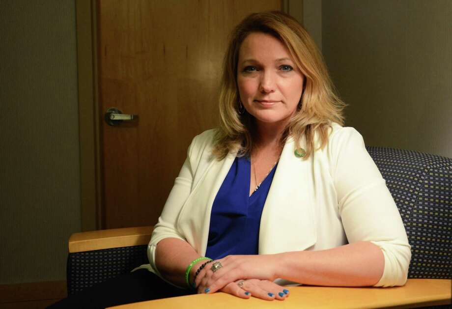 Nicole Hockley, managing director of the Sandy Hook Promise, started the gun violence prevention organization after her son Dylan died in the December 2012 shooting. Photo: Tatiana Flowers / Hearst Connecticut Media / Norwalk Hour
