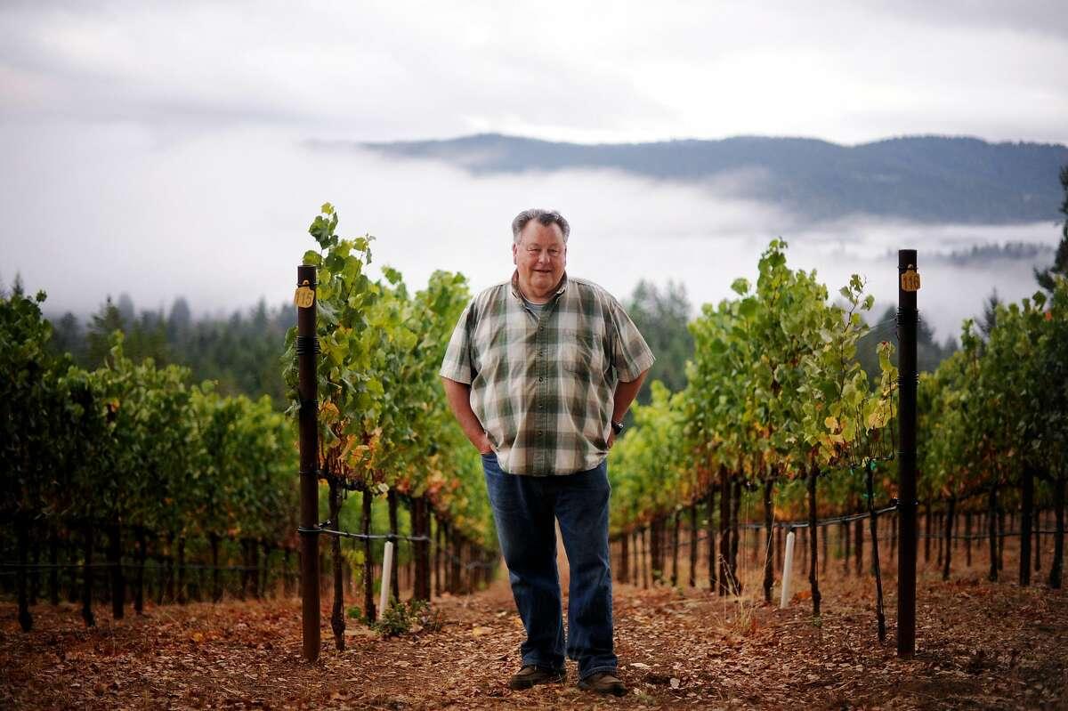 Burt Williams at his 12-acre Morning Dew vineyard in Philo, California in Anderson Valley. October 2, 2011