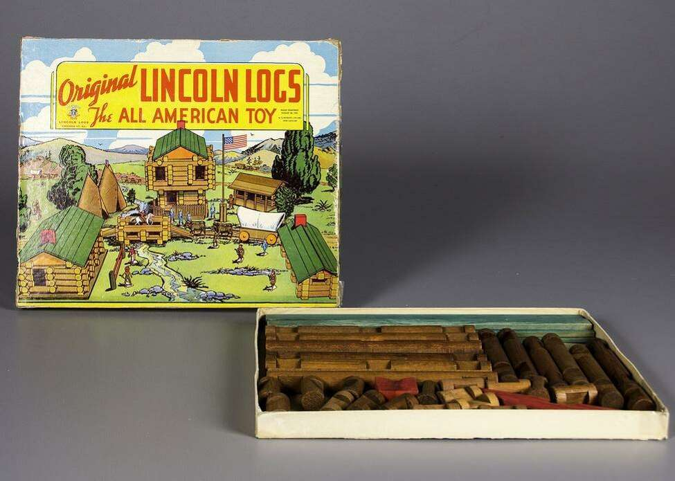 1921: Lincoln Logs Original estimated retail price: 50 cents to $1 John Lloyd Wright, son of the famous architect Frank Lloyd Wright, invented Lincoln Logs after noticing a foundation of interlocking beams on a Tokyo hotel that his father had designed. The earliest Lincoln Logs used redwood and various colors for the roof. To this day, it's not clear whether the name itself was actually inspired by Abraham Lincoln, or whether it was due to Frank Lloyd Wright's original middle name: Lincoln. This slideshow was first published on theStacker.com