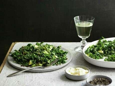 Trick Dog's Kale Salad features a creamy, egg yolk-based dressing.