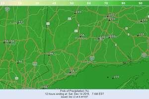 Precipitation probability map for Saturday