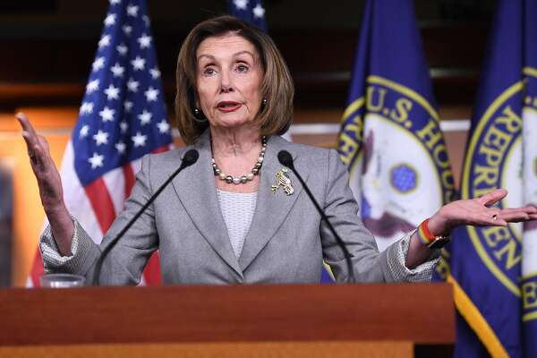 US Speaker of the House Nancy Pelosi speaks during her weekly press conference on December 12, 2019, in Washington, DC. (Photo by SAUL LOEB / AFP) (Photo by SAUL LOEB/AFP via Getty Images)