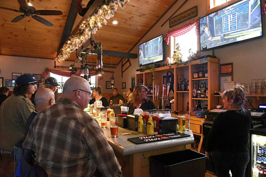 Bar area of the newly reopened Blessings Tavern on Friday, Dec. 13, 2019 in Colonie, N.Y. destroyed in a fire. A car crashed into the restaurant three years ago, resulting in the death of one of the passengers and temporarily closing the oldest continuously operating tavern in Colonie. (Lori Van Buren/Times Union)