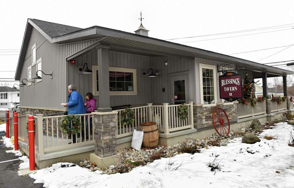 Exterior of the newly reopened Blessings Tavern on Friday, Dec. 13, 2019 in Colonie, N.Y. destroyed in a fire. A car crashed into the restaurant three years ago, resulting in the death of one of the passengers and temporarily closing the oldest continuously operating tavern in Colonie. (Lori Van Buren/Times Union)