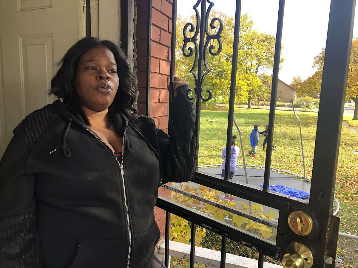 In this Nov. 5, 2019, photo, Annette Brock, who plans to be counted in the 2020 census, talks in Detroit.
