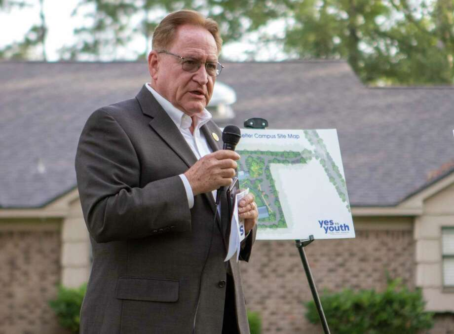 Montgomery County judge Mark Keough speaks during a ground breaking ceremony Thursday, June 20, 2019 at Yes To Youth Montgomery County Youth Services in Conroe. Photo: Cody Bahn, Houston Chronicle / Staff Photographer / © 2019 Houston Chronicle