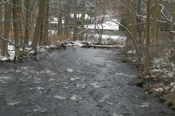 The Norwalk River flows along Route 7 in Georgetown. The river fared fairly well in the Fairfield County River Report released Dec. 10, 2019, by Harbor Watch.