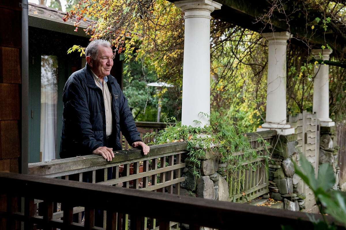 Mike Gregory poses for a portrait on the front porch of his home in Walnut Creek, Calif. Thursday, Dec. 12, 2019.