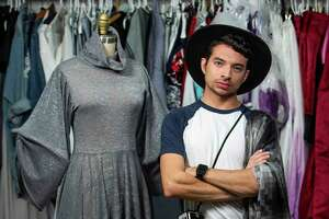 Houston designer Alan Gonzalez, a graduate of HSPV and HCC's fashion program and who will be starring on the new season of Project Runway that starts December 4th, photographed at his studio at Summer Street Studios in Houston, Monday, Nov. 25, 2019.