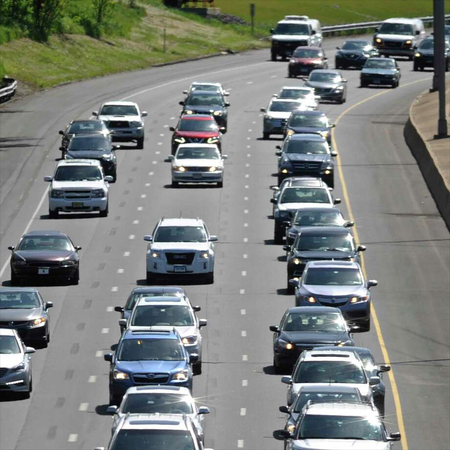Traffic builds on eastbound I-84. Photo: File Photo / The News-Times