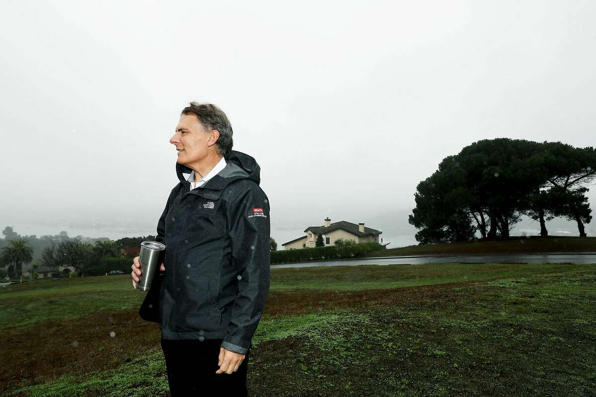Architect Mark Cavagnero takes the Chronicle on a walking tour on the Strawberry Seminary campus in Mill Valley, Calif., on Wednesday, December 11, 2019. There's a proposal to convert the seminary to housing as well as an Oxford University campus.