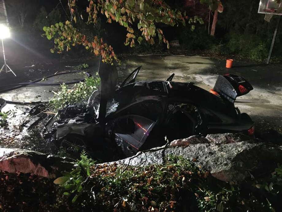 Stepney fire crews responded to an accident in Monroe, Conn., on Oct. 5, 2019. Photo: Contributed Photo / Stepney Fire Department