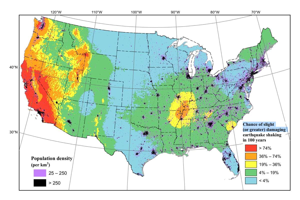 The United States Geological Society released a study that incorporates the latest earthquake science findings into an update of the National Seismic Hazard Model for the