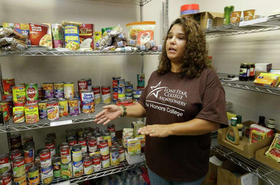 In this 2016 photo, a Lone Star College-Montgomery student and food pantry volunteer talks about the campus food insecurity for students. A reader claps back at any skepticism that there are food insecure college students out there. Photo: Melissa Phillip /Houston Chronicle / © 2016 Houston Chronicle