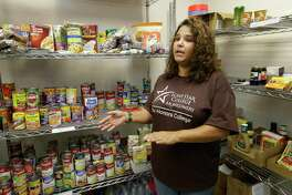 In this 2016 photo, a Lone Star College-Montgomery student and food pantry volunteer talks about the campus food insecurity for students. A reader claps back at any skepticism that there are food insecure college students out there.
