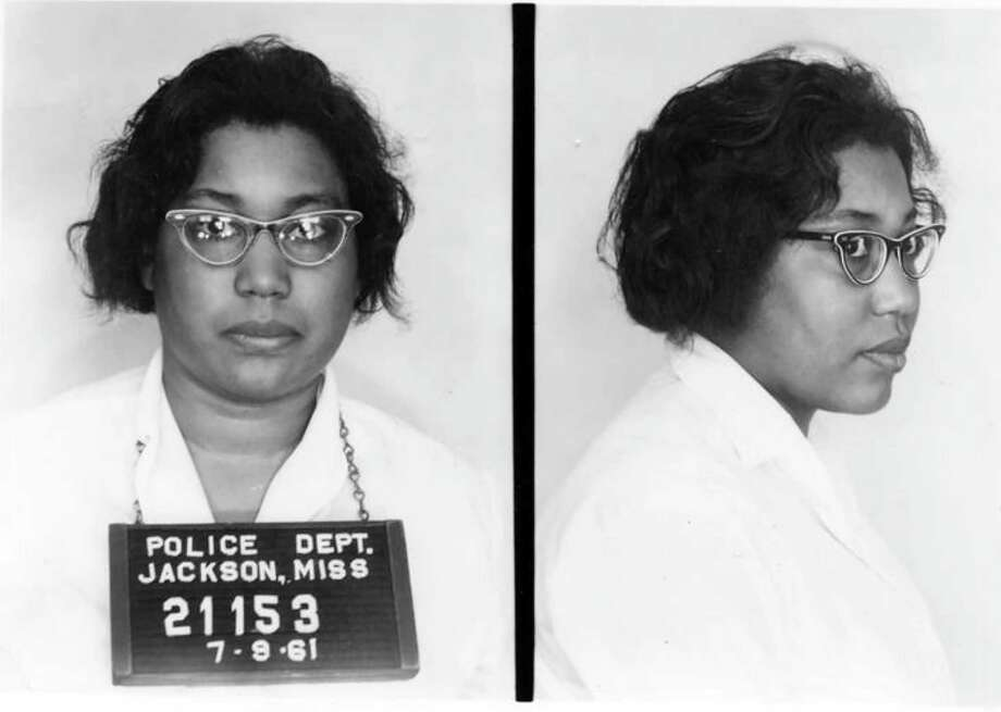 Lula Mae White's mug shot after she was arrested for refusing to leave a Jackson, Miss., bus station on July 9, 1961. Photo: Mississippi Department Of Archives And History