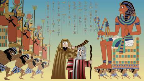"A scene from the animated film ""Seder-Masochism"""