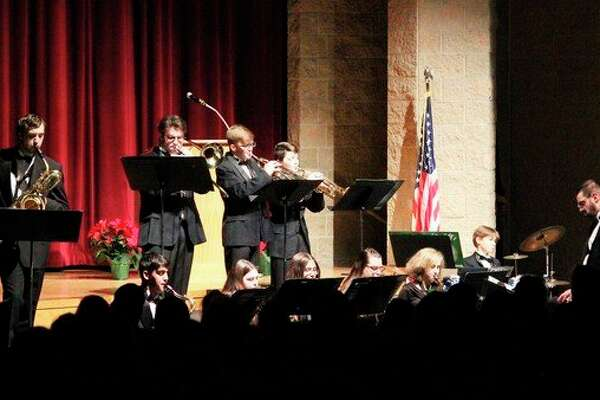 The Jazz band performs between performances by the junior high and senior high bands. (Photo/Robert Myers)