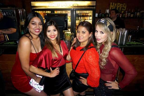 Estefania Pedraza, Isaa Garza, Perla Gonzalez and Griselda Ortiz at The Happy Hour Downtown Bar