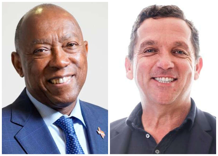 The runoff between Mayor Sylvester Turner, left, and opponent Tony Buzbee, right, will come to an end Saturday without the same level of political attacks seen in the first round. Photo: Houston Chronicle