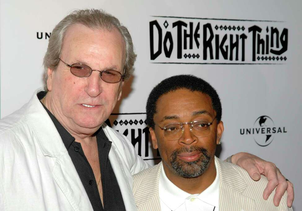 FILE - In this June 29, 2009 file photo, Director Spike Lee, right, and actor Danny Aiello attend a special 20th anniversary screening of