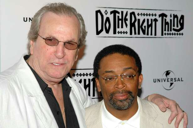"""FILE - In this June 29, 2009 file photo, Director Spike Lee, right, and actor Danny Aiello attend a special 20th anniversary screening of """"Do the Right Thing"""", in New York. Aiello, the blue-collar character actor whose long career playing tough guys included roles in a€œFort Apache, the Bronx,a€ """"The Godfather, Part II,"""" a€œOnce Upon a Time in Americaa€ and his Oscar-nominated performance as a pizza man in Spike Leea€™s """"Do the Right Thing,"""" has died. He was 86. Aiello died Thursday, Dec. 12, 2019 after a brief illness, said his publicist, Tracey Miller. (AP Photo/Peter Kramer, File)"""