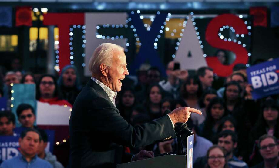 Former Vice President Joe Biden speaks during a campaign  event at La Villita on Friday. A reader objects to Biden's comments about closing military bases. Photo: Kin Man Hui /Staff Photographer / **MANDATORY CREDIT FOR PHOTOGRAPHER AND SAN ANTONIO EXPRESS-NEWS/NO SALES/MAGS OUT/ TV OUT