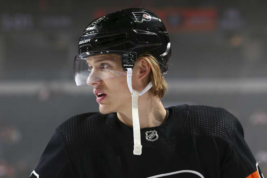 Oskar Lindblom of the Flyers has been diagnosed with Ewing's sarcoma, a very rare cancerous tumor. Photo: Mitchell Leff / Getty Images