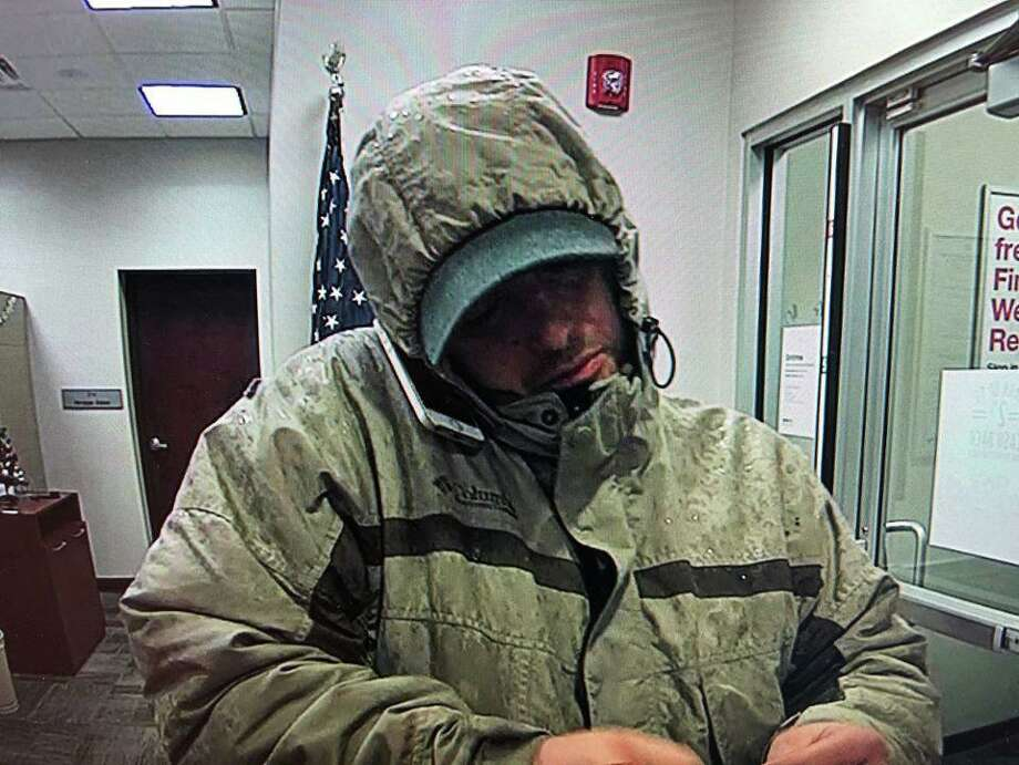Police are looking for a man they believe stole cash from Key Bank at 1715 Foxon Road in North Branford on Friday, Dec. 13. The robbery took place during the afternoon. The suspect is pictured here. Photo: Courtesy Of The North Branford Police Department