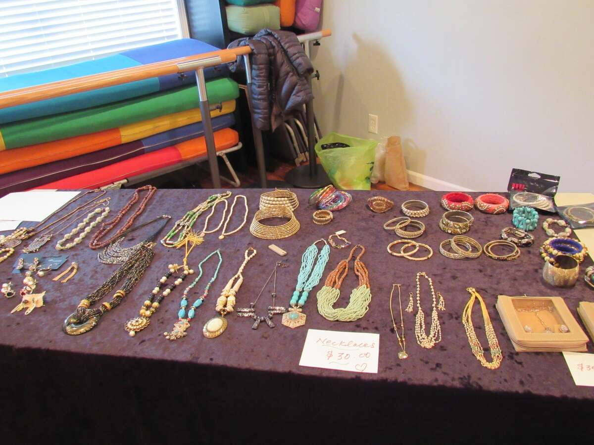 A selection of jewelry is on display at Global Compassion, Inc.'s Holiday Bazaar on Saturday, Dec. 14.