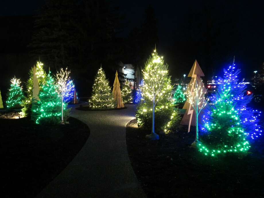 Visitors walk along lighted paths and enjoy the holiday sights and sounds at Dow Gardens' annual Christmas Walk on Friday, Dec. 13. Photo: Victoria Ritter/vritter@mdn.net