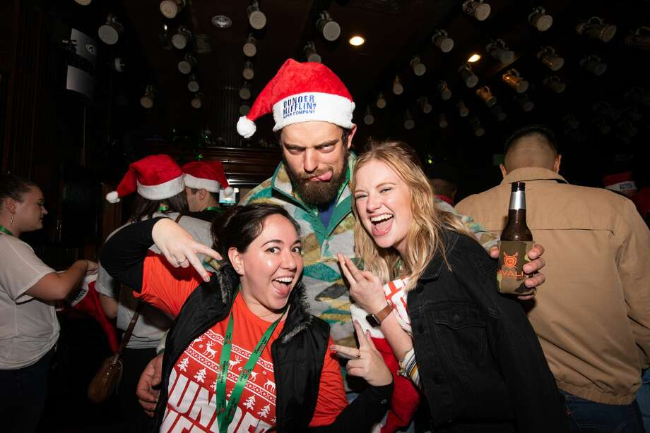 San Antonians participated in the Office Trivia Bar Crawl downtown on Friday, December 13, 2019. Photo: Aiessa Ammeter