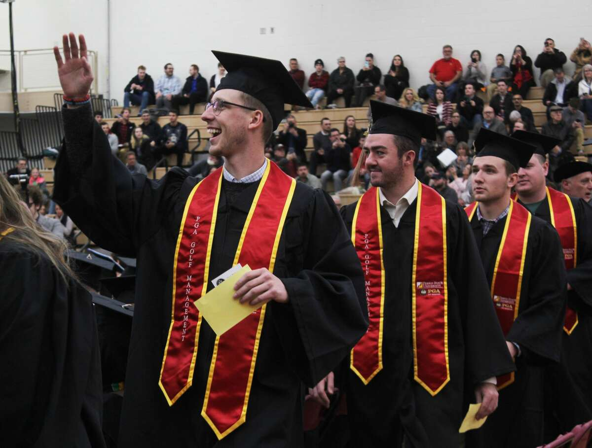 Hundreds of Ferris State University students entered a new stage of their lives as they walked across the graduation stage and received their diplomas during the university's fall commencement ceremonies Saturday.