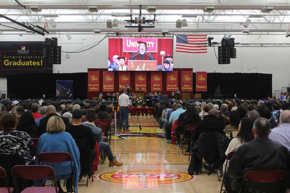 In this Dec. 18, 2019 file photo, hundreds of Ferris State University students received their diplomas during the university's commencement ceremonies.
