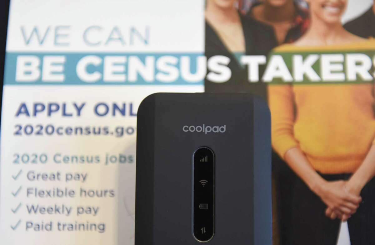 Mobile internet device to be used in gathering census data at the Troy Public Library on Wednesday, Dec. 4, 2019, in Troy, N.Y. (Will Waldron/Times Union)