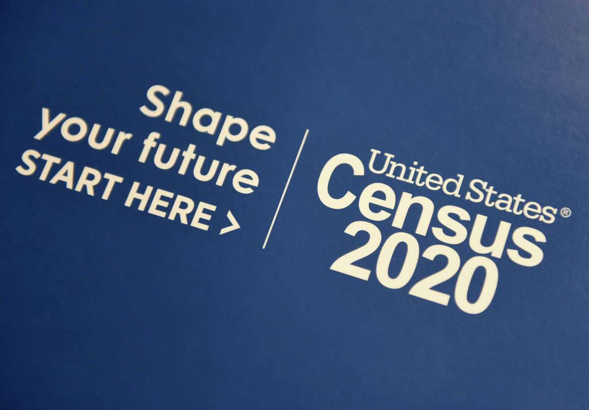 United States 2020 Census material is displayed at the East Greenbush Community Library on Friday, Dec. 6, 2019, in East Greenbush, N.Y. (Will Waldron/Times Union)