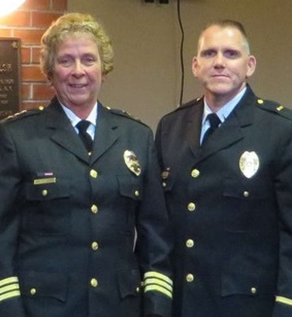 A 2014 file photo shows Police Chief Carol Lawlor and Capt. Daniel P.McNally (then a lieutenant), who will succeed her in January 2020.