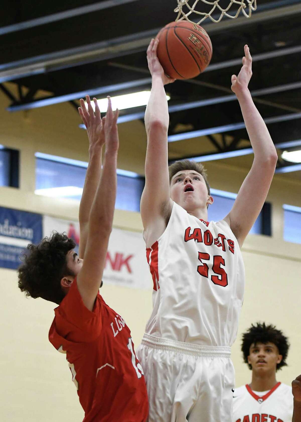 Riley Mulvey played at Albany Academy last season, but switched to St. Thomas More Prep this season, and said that helped speed his development. (Jenn March, Special to the Times Union)