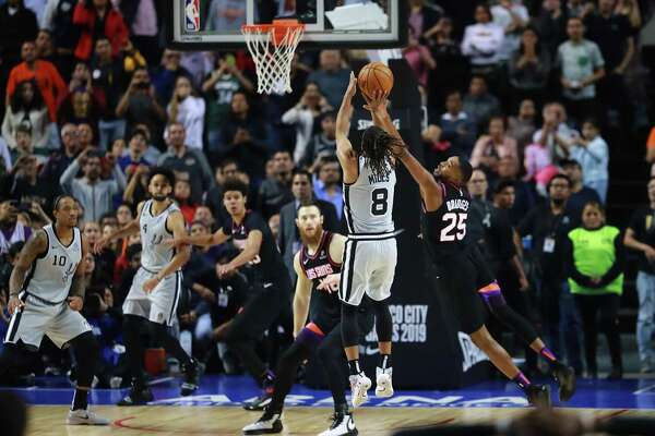 Patty Mills' 18-foot jumper off a designed play in the final second of overtime saved the Spurs after they almost bumbled their way into a second straight OT loss after leading late in regulation.