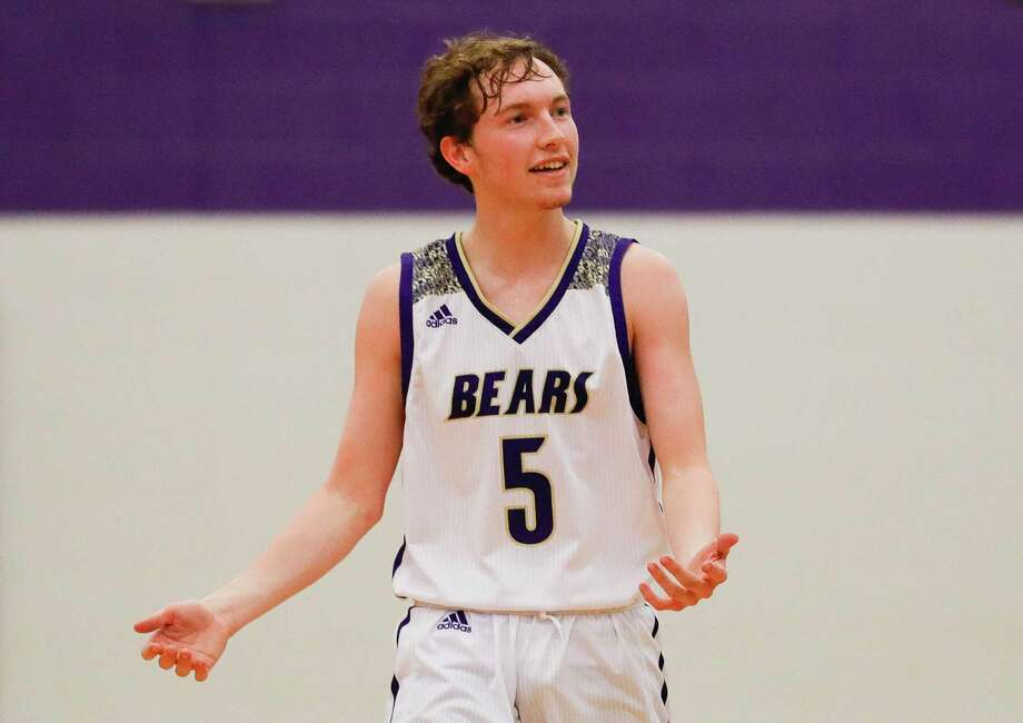 Montgomery guard Cade Tipton (5) reacts to a foul call in the second quarter of a high school basketball game at the MHS Bears Holiday Classic, Friday, Dec. 13, 2019, in Montgomery. Photo: Jason Fochtman, Houston Chronicle / Staff Photographer / Houston Chronicle