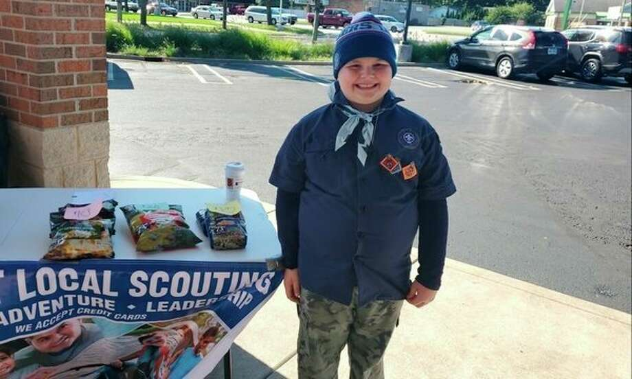 Mason Anderson is one of the local Boy Scouts helping Open Door in Midland. (Photo provided)
