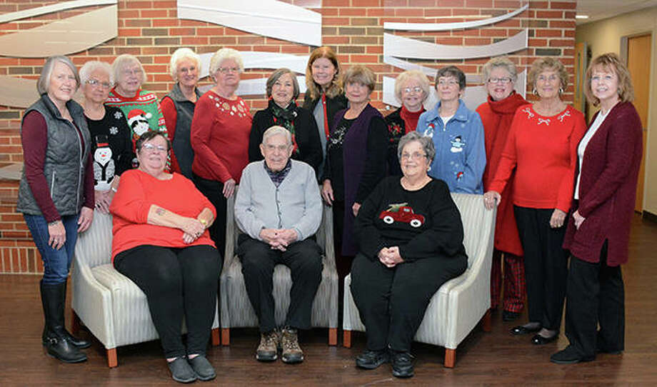 Passavant School of Nursing Alumni group members share time together during a holiday dinner Thursday at Passavant Area Hospital. Photo: Photo Provided