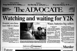 The Dec. 31, 1999 (Stamford) Advocate front page, including a story on Cloonan School students in Stamford predicting life in 2020.