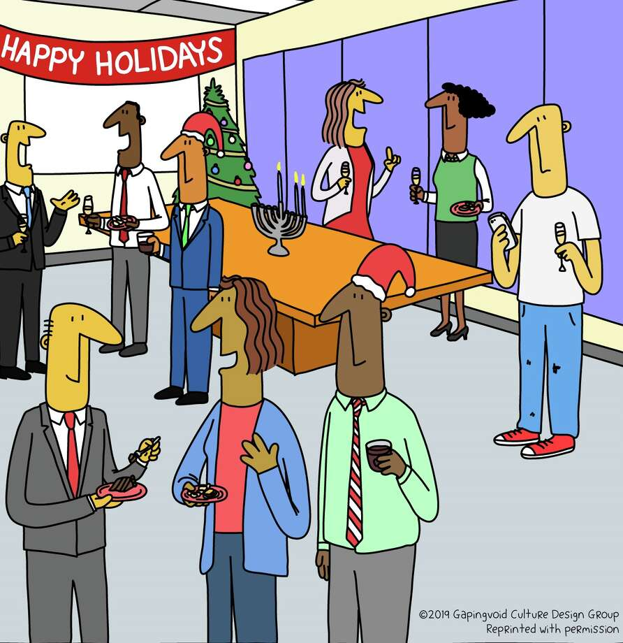 Holiday office parties have hidden rewards in them. Photo: Courtesy Of Gapingvoid Culture Design Group