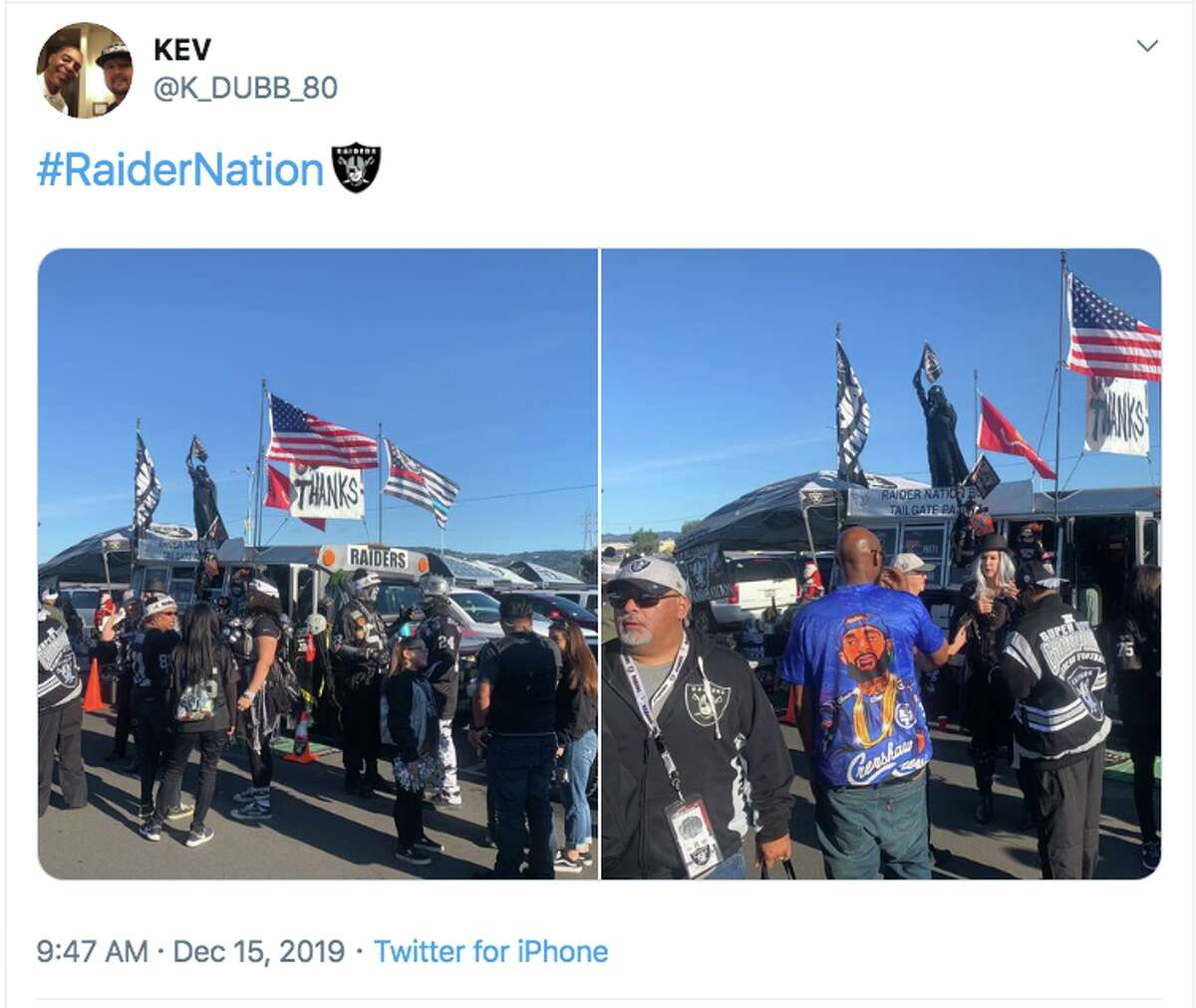 Fans bid farewell to the Raiders at the Oakland Coliseum on Dec. 15, 2019. In 2020, the Raiders franchise moves to Las Vegas.
