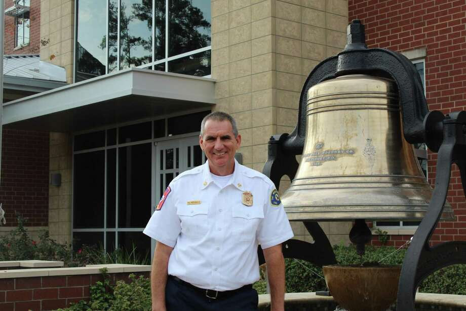 New Woodlands Fire Chief Palmer Buck poses in front of The Woodlands Central Fire Station on Thursday, Dec. 12, 2019. Photo: Photographs By Jeff Forward/The Villager / Photographs By Jeff Forward/The Villager