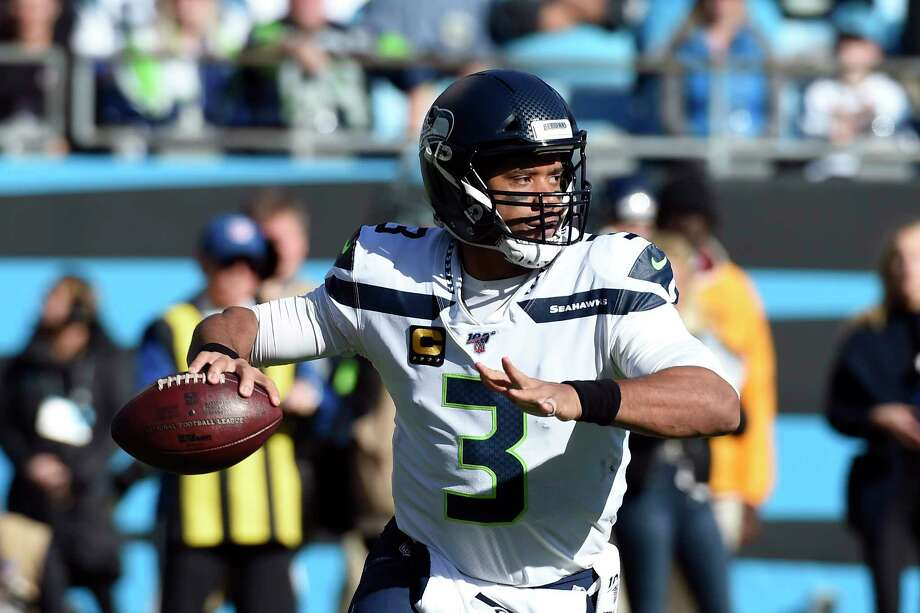 Seattle Seahawks quarterback Russell Wilson (3) passes during the first half of an NFL football game against the Carolina Panthers in Charlotte, N.C., Sunday, Dec. 15, 2019. Photo: Mike McCarn, AP / Copyright 2019 The Associated Press. All rights reserved