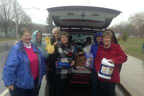 In April, the Jr. Clio Club of Onekama donated items to Homeward Bound Animal Shelter of Manistee County.