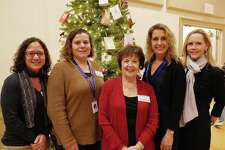 Stay at Home in Wilton president Sally Kirmser with the RVNA health staff, from left, Jo Bennett, marketing; Gigi Weiss, director of rehabilitation; Katy Johannsen, director of business development; Nancy Rowe, marketing.